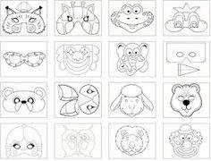speciál: Karnevalové masky - šablony k vytisknutí | i-creative.cz - výtvarné nápady a omalovánky k vytisknutí Infant Activities, Educational Activities, Craft Activities, Diy And Crafts, Crafts For Kids, Toddler Art, Origami, Kindergarten, Playing Cards