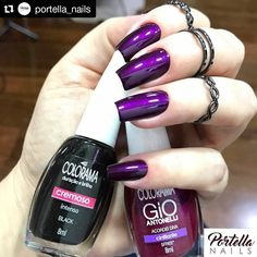 Nails-Ative as notificaçõesSigam:{ Perfect Nails, Gorgeous Nails, Love Nails, Fun Nails, Dark Nails, Purple Nails, Cute Nail Art, Super Nails, Trendy Nails