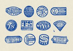 Tattered Style by Gold Lunchbox. #branding