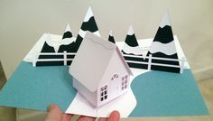 2015 Christmas card pop-up (house is a modification of template from http://www.extremepapercrafting.com/2008/11/gingerbread-house-pop-up-card-tutorial.html)