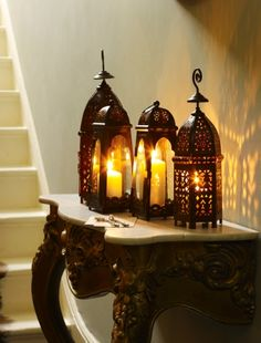Decorate your hallway  A collection of twinkling tealights, candles or ornaments on a wall-mounted table won't take up much space in a hall, but will create a warm and welcoming glow for visitors.