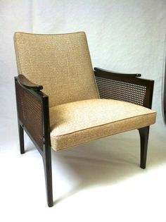 Maurice Jallot chicest pair of mahogany rattan side restored chairs | From a unique collection of antique and modern armchairs at http://www.1stdibs.com/furniture/seating/armchairs/