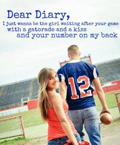 More like waiting on the sidelines cheering youu on in my uniform :)