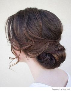 Low bun wedding hair vintage style