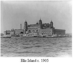 Ellis Island 1905- This is what my Grandfather saw when he first came to America. My Grandmother & Great-Grandmother would follow from Italy.
