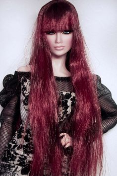 fashion doll-- she'd look real if not for the hair!