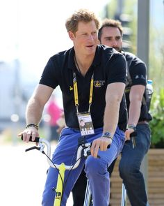 Pin for Later: Proof That Prince Harry May Be the Sportiest Member of the Royal Family  Harry went cycling between events at the Invictus Games in September 2014.