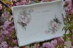Tácka s vintage ružami