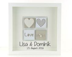 Hochzeitsdeko - personalisiertes Hochzeitsgeschenk - Hochzeitsbild - ein Designerstück von schoenes-von-Herzen bei DaWanda