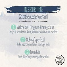 Selbstbewusster werden in 3 Schritten #Ninette Web Comic, Social Security, Cards, Saying No, Cheer Up, Grief, Maps, Playing Cards