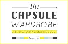 STEP 5: SHOPPING LIST AND BUDGET | 5 steps to a capsule wardrobe