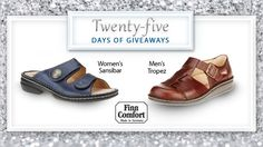 "Get that ""barefoot-in-the-sand"" feeling when you step into a Finn Comfort shoe. Win a pair of sandals for yourself before summer is over. Enter here. #25DaysofGiveaways"