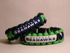 Seattle Seahawks  NFL  Paracord Bracelet by JBWAREHOUSE on Etsy, $9.00