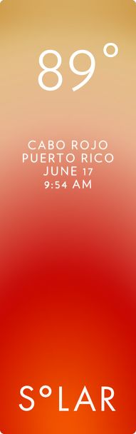 Cabo Rojo weather has never been cooler. Solar for iOS.