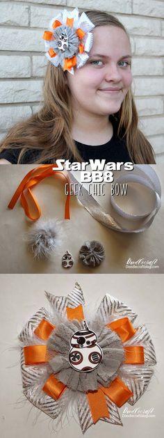 Star Wars BB8 Shrinky Dink Bow!