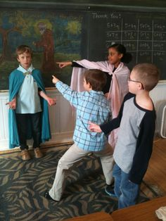 Tamarack students practicing a play