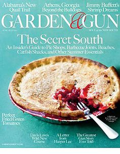 Garden and Gun Magazine.  You will never find a better magazine.  I've given many subscriptions as gifts.  The name is misleading, it is truly a southern gem.