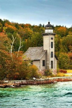 Grand Island Lighthouse Munising MI, USA