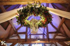 Christmas wedding decorations - Stunning Christmas wedding at Lains Barn, Rachael & Joel, photographs by Guy Collier Photographer