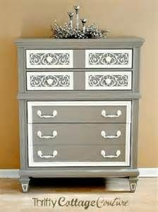 Vintage Scroll dresser painted with Annie Sloan Chalk Paint@ in Coco with Old White Accent - Finished with clear wax