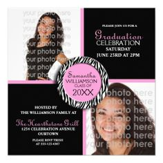 consumer reviews Charming 2014 Graduation Invitation Fuchsia