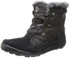 Columbia Women's Minx Shorty Omni-Heat Winter Boot,Black/Shale,8 M US