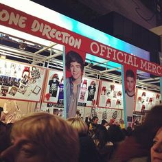 1D Merch stand at the O2 arena