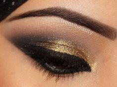 Arabic gold eye makeup