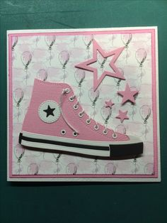 Hunkydory Crafts, Converse Trainers, Star Cards, Embossed Cards, Cricut Cards, Kids Cards, Paper Piecing, Mini Albums, Making Ideas