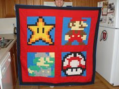 My life in Random Thoughts: Mario Bros quilt block w/ tutuorial