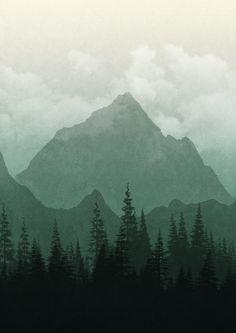 James Burton on Behance Watercolor Landscape, Landscape Art, Landscape Paintings, Watercolor Paintings, Landscapes, La Salette, Slytherin Aesthetic, Wallpaper Backgrounds, Backgrounds For Pictures