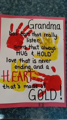 grandparents day gifts Ideas Craft Gifts For Grandparents Activities Grandparents Day Crafts, Mothers Day Crafts For Kids, Grandparent Gifts, Mothers Day Cards, Mother Day Gifts, Gifts For Kids, Fathers Gifts, Dad Gifts, Birthday Presents For Grandma