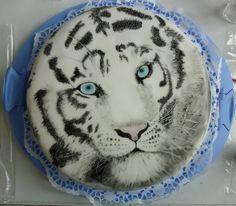 White Tiger Cake | White Tiger Cake by VulpesLupina