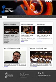 Orquestra Sinfônica de Rio Claro: Site / http://www.sinfonicarioclaro.com.br