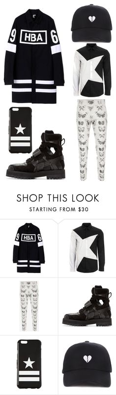"""""""12"""" by joshua-little on Polyvore featuring Hood by Air, Versace, Alexander McQueen, Givenchy, men's fashion and menswear"""