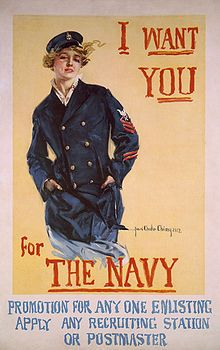 Loretta Perfectus Walsh (April 22, 1896 – August 6, 1925) became the first American active-duty Navy woman, and the first woman allowed to serve as a woman, in any of the United States armed forces other than as a nurse, when she enlisted in the U.S. Naval Reserve on March 17, 1917. Walsh subsequently became the first woman Navy petty officer when she was sworn in as Chief Yeoman on March 21, 1917.
