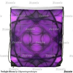 Twilight Bloom Drawstring Bag