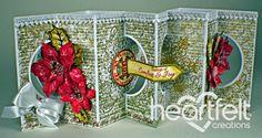 Heartfelt Creations   Poinsettia Double Lever Card
