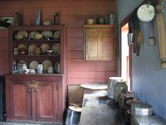 An early 1800's kitchen at Kings Landing www.kingslanding.nb.ca