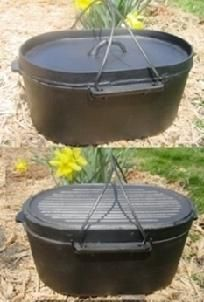 Cast Iron Dutch Oven Roaster Self-Basting Cast Iron  Camp Turkey Pot  Kettle Cook  - put this on my Christmas list for next year!!!