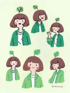 Character girl illustration by Cute Art Styles, Cartoon Art Styles, Character Illustration, Illustration Art, Illustrations, Arte Indie, Posca Art, Kawaii Art, Pretty Art