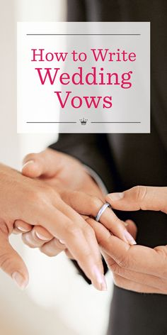 How to Write Wedding Vows | Learn how to write wedding vows that wow with these tips from Hallmark writer and romance novelist, Stacey Donovan. Includes wedding vow examples and a simple template to help you express what's in your heart.