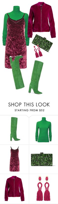 """""""Street Style"""" by viktoria-kot ❤ liked on Polyvore featuring Barbara Bui, Acne Studios, Topshop, Edie Parker, Opening Ceremony and Oscar de la Renta"""