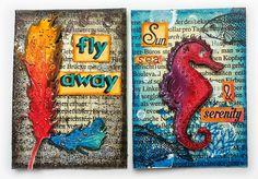 Susanne Rose - Papierkleckse: Artist Trading Cards - Tutorial