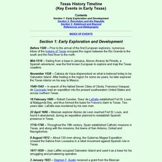 Texas History Timeline - very basic Social Studies Projects, 5th Grade Social Studies, Teaching Social Studies, Texas History 7th, Family History, History Classroom, History Teachers, Texas Government, Teacher Certification