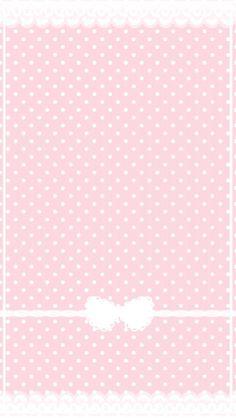 Étiquette rose à puis blanc et nœud girly.