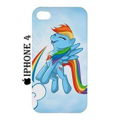 Rainbow Dash Cutie iPhone 4 4s Hardshell Case Cover Rainbow Dash - PDA Accessories