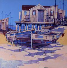 Tackle Sheds- Joe Smernicki Boats, Coastal, Mansions, Sheds, House Styles, Gallery, Artist, Prints, Paintings