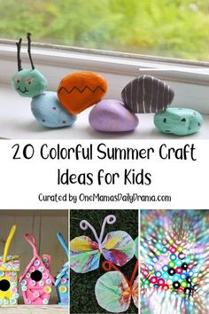 These are some of the best summer craft ideas for kids and most can be made with basic craft supplies and household items you already have on hand. Summer Art Projects, Summer Crafts For Kids, Sewing Projects For Kids, Diy For Kids, Craft Stick Crafts, Preschool Crafts, Paper Crafts, Diy Crafts, Craft Ideas