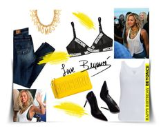 """""""Street Style - Beyonce"""" by joana-santos-duarte ❤ liked on Polyvore featuring American Eagle Outfitters, Moschino, Dunn, Majestic and happybirthdaybeyonce"""